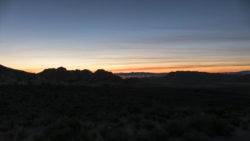 Sunrise time lapse view with zoom in towards Calico Rocks at Red Rock Canyon National Conservation Area near Las Vegas Nevada.  | Shutterstock HD Video #1007657230