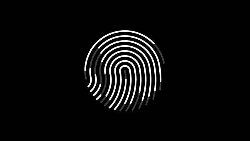 Animation of scanning and analysis fingerprint on mobile device, 4K seamless loop animation | Shutterstock HD Video #1007702746