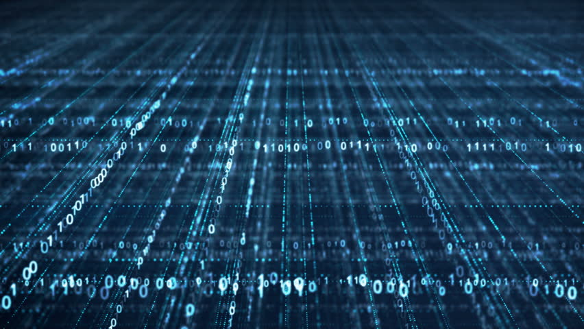 Dolly shot of blue binary code grid. Information technology concept. Computer generated seamless loop animation 4k (4096x2304)   Shutterstock HD Video #1007709604