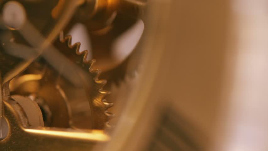 Clock wheels turning- process, progress, idea: | Shutterstock HD Video #1007710660