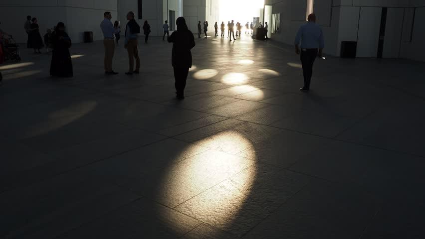 United Arab Emirates, Abu Dhabi - January 09, 2018: Louvre Museum, interior view.