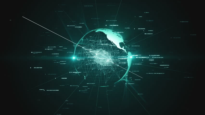 The virtual planet earth rotates in space, the business concept of technology and connections in the world | Shutterstock HD Video #1007735257