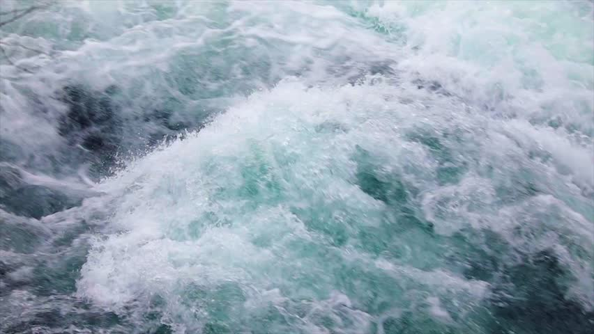 Mountain river water with slow motion closeup. Norway Beautiful Nature. | Shutterstock HD Video #1007809648