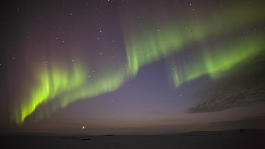 Northern Lights in Iceland   Shutterstock HD Video #1007809837
