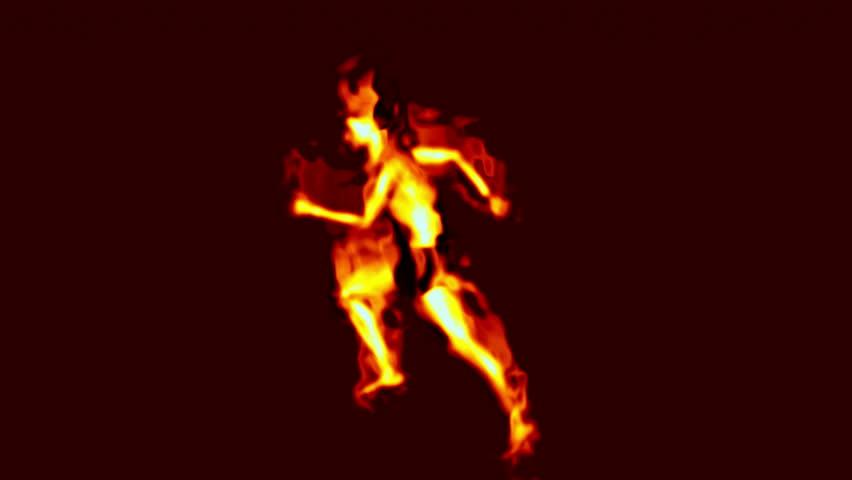 burning man abstract