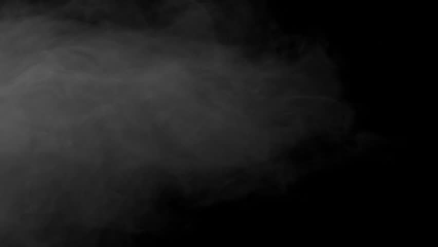 Drifting smoke against black background | Shutterstock HD Video #1007964079