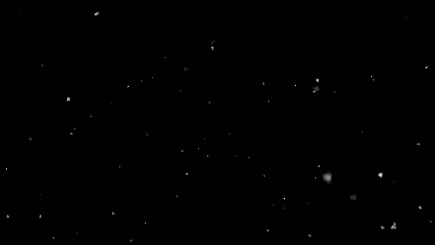 Realistic snow. Snowflakes on black background.   Shutterstock HD Video #1007996566