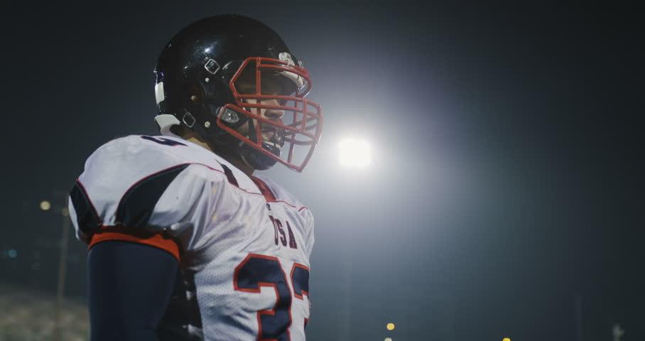 Portrait Of Caucasian Male American Football