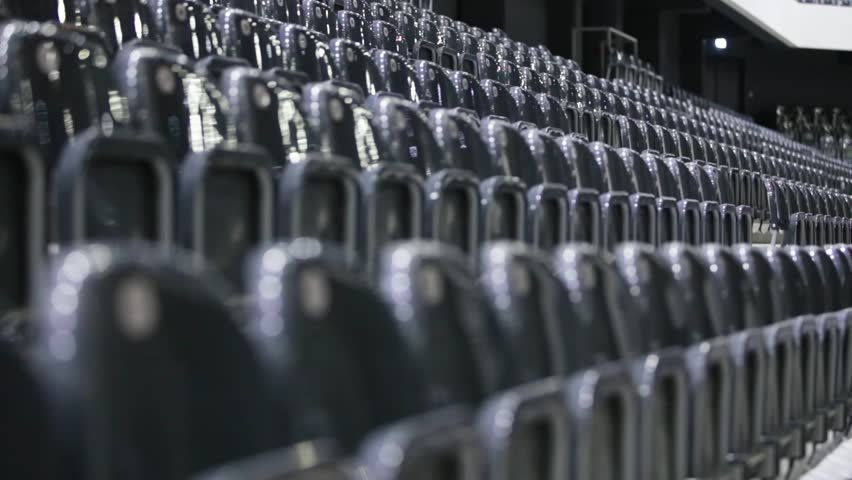Empty sports and concerts hall. Lateral view of seat rows | Shutterstock HD Video #1008017908