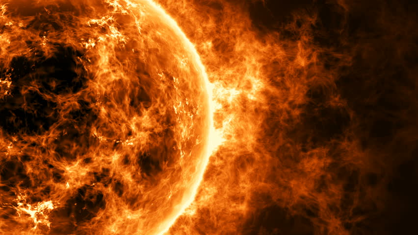 Sun surface with enormous thermal energy.