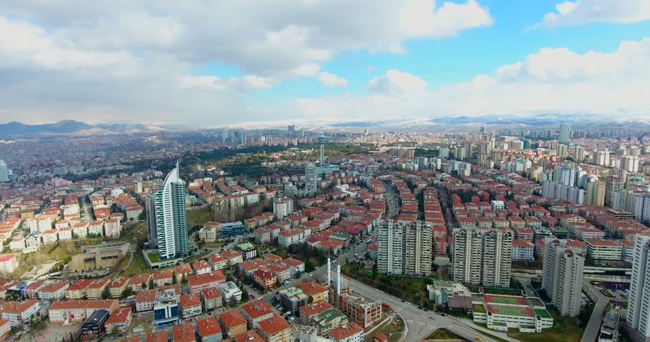 Aerial view to Capital of Turkey Ankara