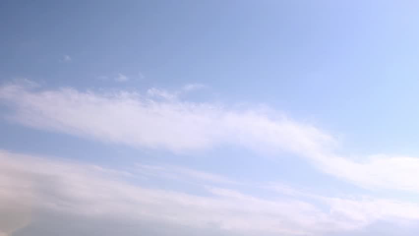 Blue soft sky & puffy, fluffy white clouds, motion & move sexy cloud, time lapse. NOT CG FILTER.  Flight over cloudscape, loop-able, cloudscape, day, Full HD, 1920x1080.