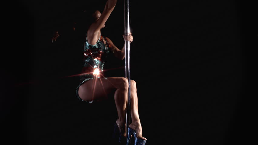 Amazing pole dancer showing her skills in slow motion | Shutterstock HD Video #1008115237