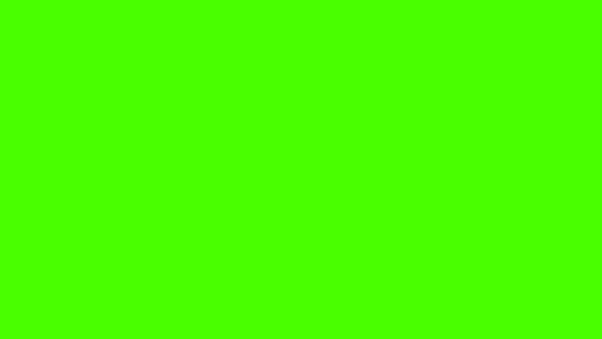 Blood Splatter Splashing with Drops on a Green Screen  #1008116338