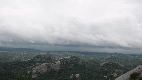 Aerial View of Dense Forest, Savanadurga forest Area