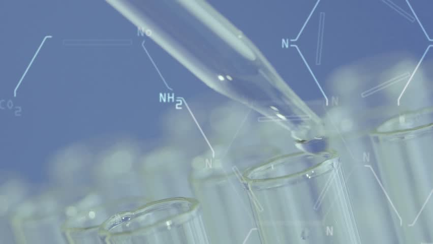 Close up of laboratory scientist working with a pipette analyzes and extract the DNA or molecules in the test tubes.on blue background with virtual interface | Shutterstock HD Video #1008152809