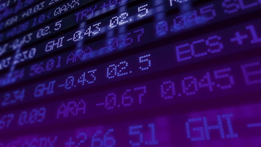 Stock market ticker digital data. Not real name of companies | Shutterstock HD Video #1008175165