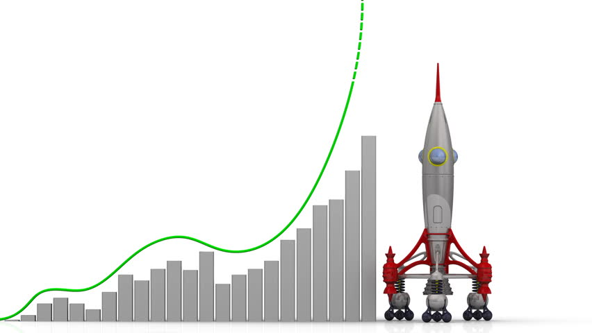 The graph of export growth. Graph of rapid growth with word EXPORT and rocket launch. Footage video | Shutterstock HD Video #1008194524