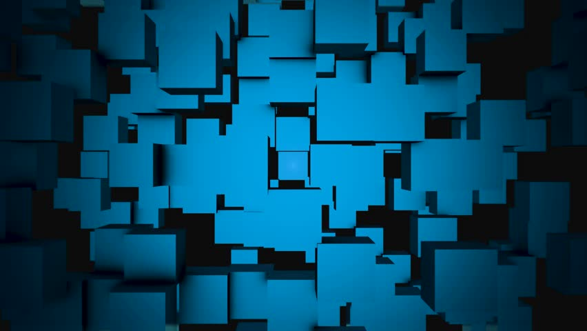 Abstract cubes move, 3D animation. Cubes are composed in the background for copy space   Shutterstock HD Video #1008223495