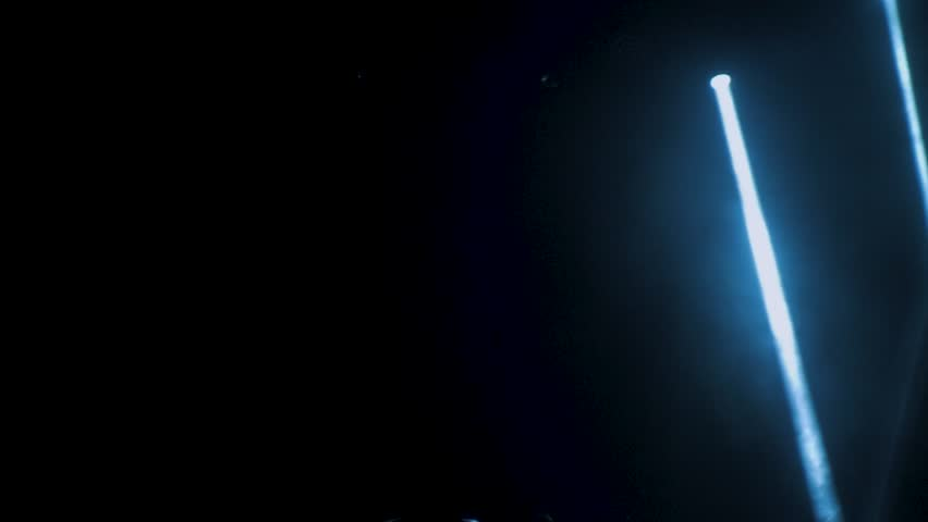 Concert lighting against a dark background ilustration. Spotlight on stage. Free stage with lights, lighting devices