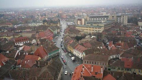 Landscape tower of Sibiu Romania.