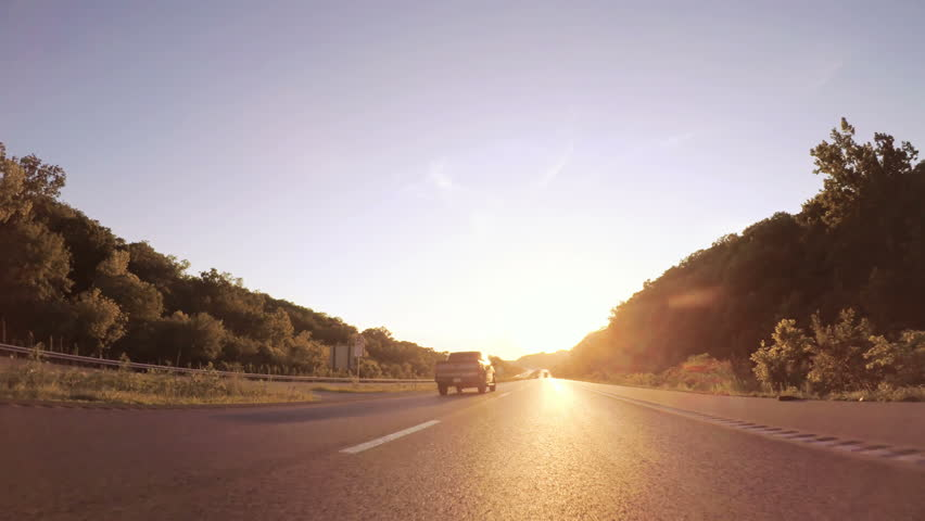 Kansas, USA-July 15, 2017. POV point of view - Driving West on Interstate highway 70 through Kansas. | Shutterstock HD Video #1008403891