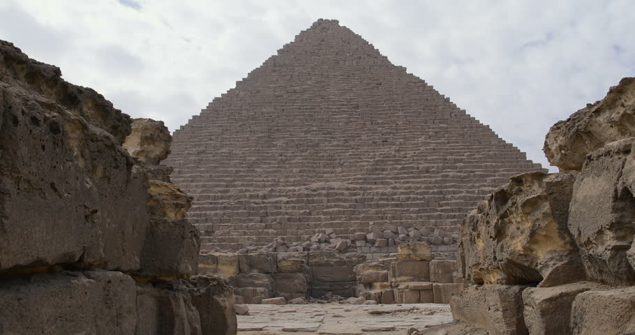 Egyptian Pyramids with ruins