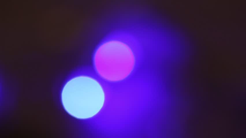 Abstract purple bokeh light blur background. Purple Christmas lighting abstract blur bokeh #1008503641