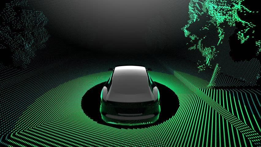 Self driving car with lidar scanner