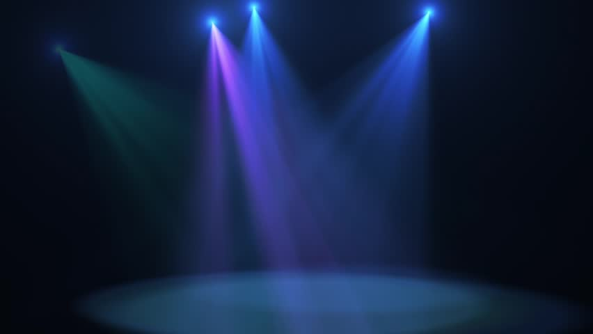 A looped animation of disco lights shining on a stage #1008526918
