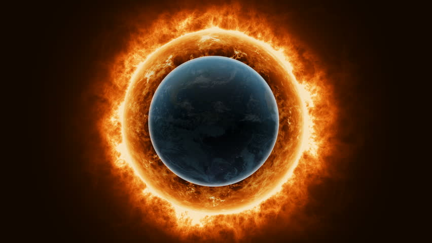 Sun surface with enormous thermal energy cover the Earth. | Shutterstock HD Video #1008598834