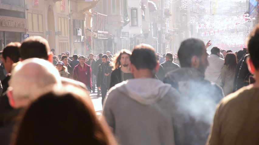 March 22, 2015, Istanbul : Slow motion, Istanbul anonymous crowded commuters people walking on city center | Shutterstock HD Video #10086149