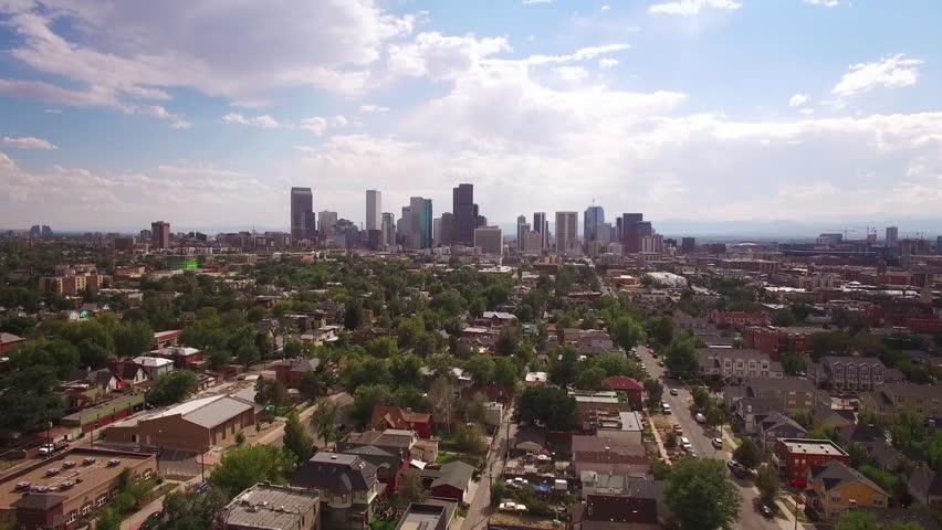 Denver Aerial View From Rhino Neighborhood