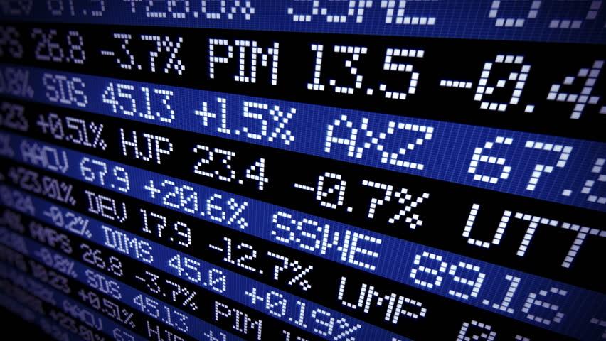 Stock market ticker digital data. Not real name of companies  | Shutterstock HD Video #1008671395