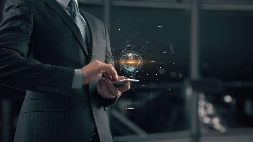 Businessman with Marketing automation | Shutterstock HD Video #1008675205