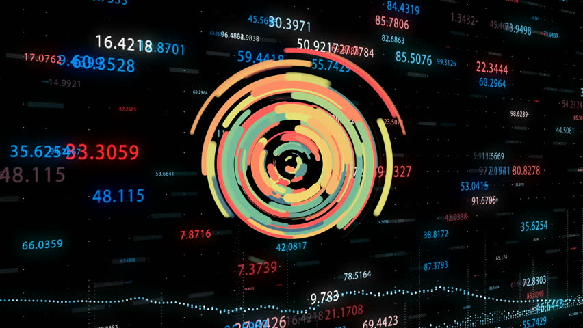 Stock Market Animation Colorful HUD | Shutterstock HD Video #1008683074
