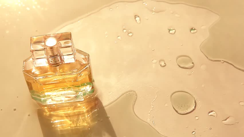 Glass Perfume Bottle water wave | Shutterstock HD Video #1008684871