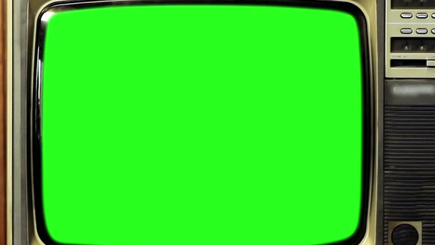 "80s TV with Green Screen. You can replace green screen with the footage or picture you want. You can do it with ""Keying"" (Chroma Key) effect in AE (check out tutorials on YouTube). Zoom Out Fast.  