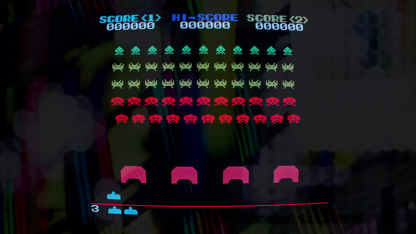 March 07 2018 - motion graphics representation of the space invaders computer game