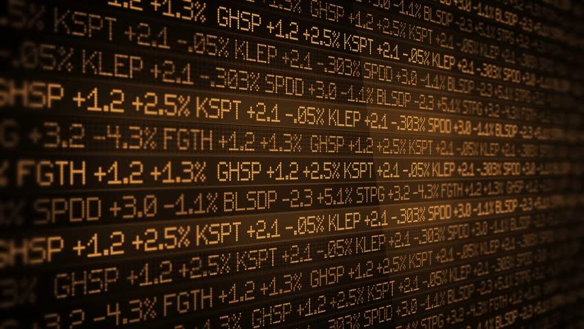 Sepia Stock Market Ticker scrolling in sleek environment ALT- wall street concept | Shutterstock HD Video #1008729932