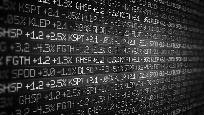 Black and White Stock Market Ticker scrolling in sleek environment - wall street concept | Shutterstock HD Video #1008729944
