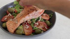 Salmon salad paleo