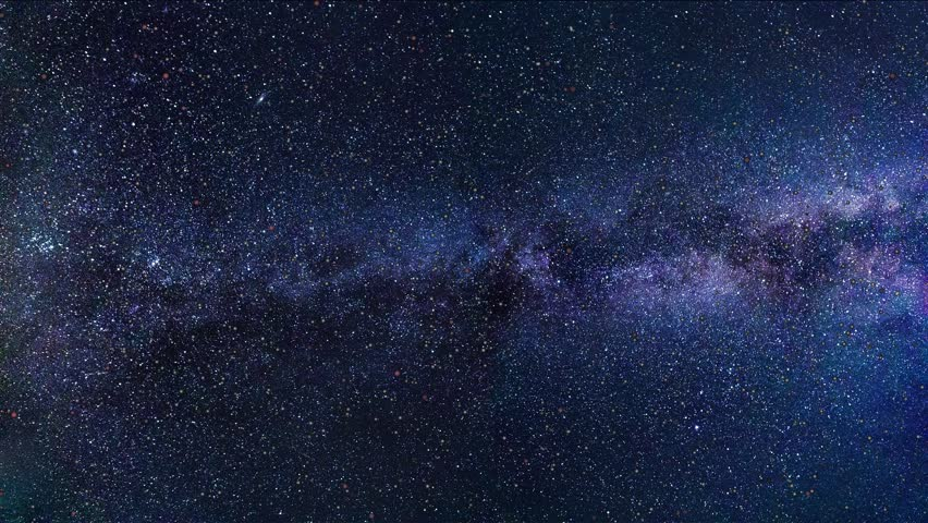 Passing meteor shower looking out at milky way galaxy | Shutterstock HD Video #1008820982
