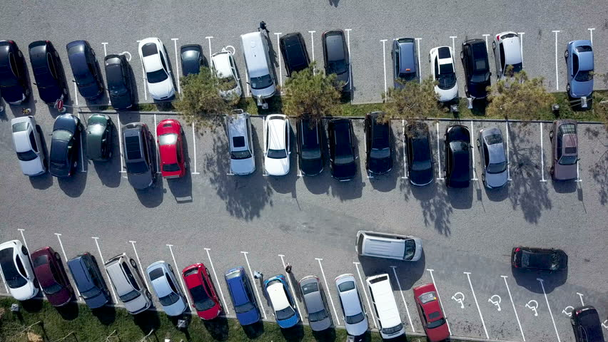 Aerial view of car parking | Shutterstock HD Video #1008831350