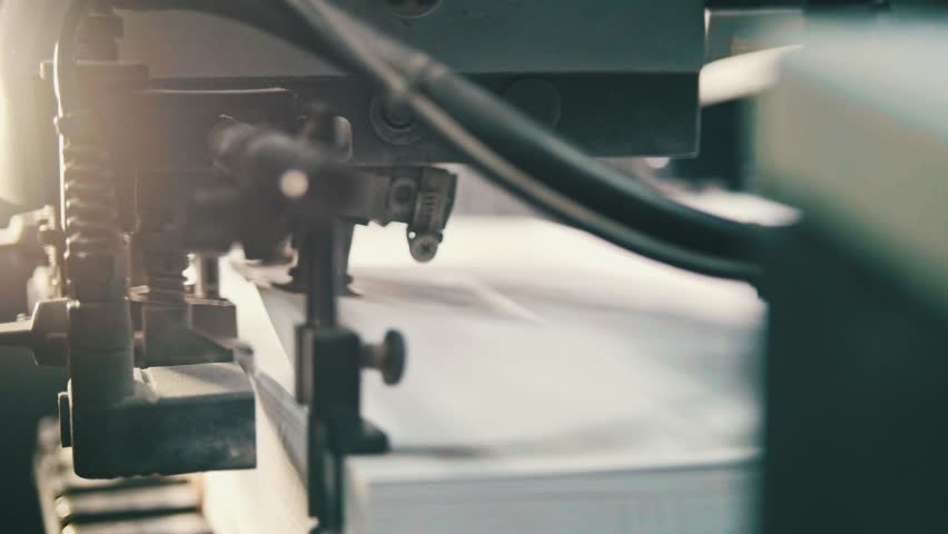 Printing process - sheets of paper - CMYK, close up