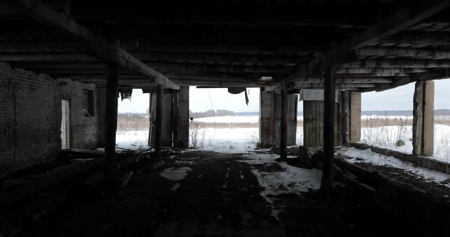 inside the old abandoned terrible building