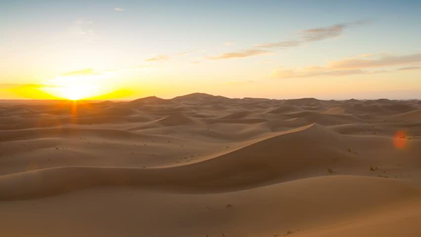 Sunrise in arabian dunes of Morocco timelapse   Shutterstock HD Video #1008874691
