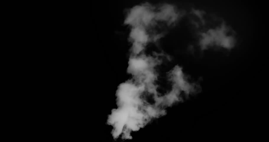 Big Flying White Smoke. White vapor or smoke slowly rises upwards gradually dissolving. Excellent for simulating smoking pipes. For example, geysers, steam locomotives or steamers, etc. #1008875831