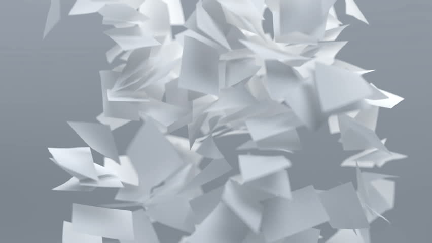 Flying sheets of white paper	 | Shutterstock HD Video #1008886730