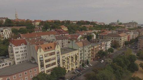city aerial view Budapest
